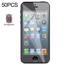 50 stuks non-Full matte Frosted gehard glas film voor iPhone 5/5S/5C