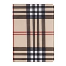 Plaid structuur lederen hoesje met houder & opbergruimte voor pinpassen & Money Pocket voor iPad Air 2(geel)
