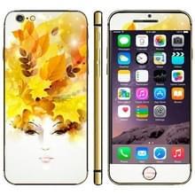 iPhone 6 & 6S Bladeren en gezicht patroon beschermende stickers