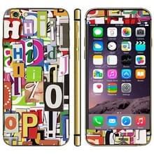 iPhone 6 & 6S Letter patroon beschermende stickers