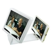 Mobiele telefoon 3D video vouwen vergrote scherm Expander stand voor iPhone 6 & 6 plus  iPhone 5  Galaxy S6/S5/HTC/Nokia/LG/Xiaomi mobiele telefoon (wit)