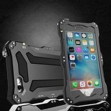 Professionele en krachtige stofdichte Shatter bestendige schokbestendige IPX7 waterdichte Carbon Fiber metalen beschermhoes voor iPhone 6 & 6s (zwart)
