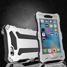 Professionele en krachtige stofdichte Shatter bestendige schokbestendige IPX7 waterdichte koolstofvezel metalen beschermhoes voor iPhone 6 & 6s (zilver)