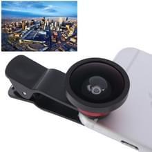 HE-22 universele Super breed 0.4 X Lens met Clip  voor iPhone  Galaxy  Sony  Lenovo  HTC  Huawei  Google  LG  Xiaomi en andere Smartphones(Red)