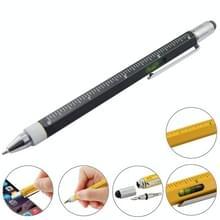 Multi-functionele 6 in 1 professionele Stylus Pen voor iPhone 6 & 6 Plus  iPhone 5 & 5S & 5 C  iPad Air 2 / iPad Air / iPad mini / mini met Retina-Display en alle Capacitieve Touch Screen(Black)