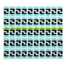 100 stuks voor iPhone 6 Home toets ijzer blad isolerende katoen plakken Sticker