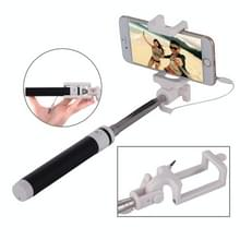 Portable Wire Controlled Macarons Selfie Stick Monopod Folding Extendable Pocket Handheld Holder  For iPhone  Galaxy  Huawei  Xiaomi  LG  HTC and Other Smart Phones  Folded Length: 18.9cm  Max Extension Length: 81.6cm(Black)