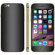Carbon Fiber textuur mobiele telefoon Decal Stickers voor de iPhone 6 Plus & 6S Plus