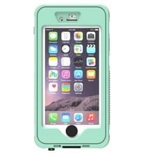 Waterdichte stofdicht Shockproof Crushproof Noctilucent beschermhoes met houder voor iPhone 6 & 6S(Green)