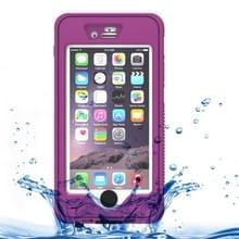 Waterdichte stofdicht Shockproof Crushproof Noctilucent beschermhoes met houder voor iPhone 6 & 6S(Purple)