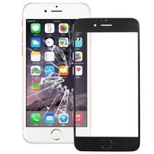 Front Screen Buitenste Glazen Lens met home-knop voor iPhone 6s (Zwart)