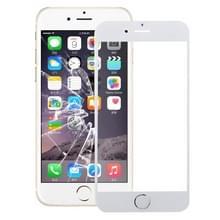 Front Screen Buitenste Glazen Lens met home-knop voor iPhone 6s (Zilver)
