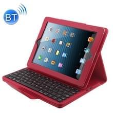Bluetooth 3 0 toetsenbord met afneembare leren hoesje voor iPad 4/3/2 (rood)