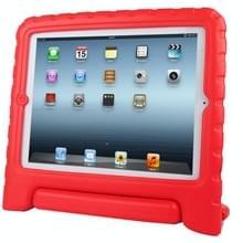 iPad 2 / 3 / 4 beschermend EVA foam back cover Hoesje met houder (rood)
