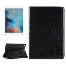 krokodil structuur horizontaal Flip lederen hoesje met houder & opbergruimte voor pinpassen & portemonnee voor iPad Pro 12.9 inch(zwart)