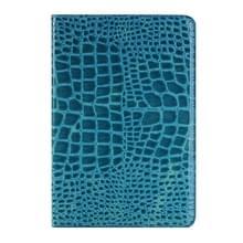 krokodil structuur horizontaal Flip lederen hoesje met houder & opbergruimte voor pinpassen & portemonnee voor iPad Pro 12.9 inch(donker blauw)