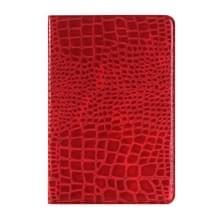 krokodil structuur horizontaal Flip lederen hoesje met houder & opbergruimte voor pinpassen & portemonnee voor iPad Pro 12.9 inch(rood)