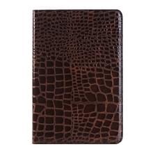 krokodil structuur horizontaal Flip lederen hoesje met houder & opbergruimte voor pinpassen & portemonnee voor iPad Pro 12.9 inch(bruin)