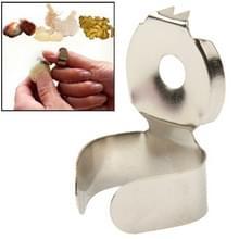 5 pc's creatieve keuken multifunctionele gezondheid vliegtuig knoflook apparaat roestvrij Steel(Grey)