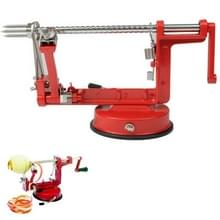 3-in-1 Multi functionele Fruit Peeling en snijden steniging van Machine(Red)
