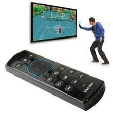 Measy GP830 Air Mouse draadloos somatosensorisch toetsenbord met Game Pad functie en Voice zendontvanger (zwart)