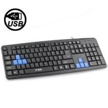 JITE KB-102 USB 2.0 Slim PC Laptop Computer QWERTY 104 Key toetsenbord(zwart)