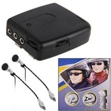 2 stuks multi met Wired motorfiets Interphone(Black)