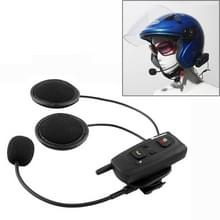 V2-1000 1000m Bluetooth Interphone Headsets voor Motorhelm  Max ondersteuning: twee renners door Bluetooth System(Black)