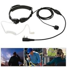 Throat control Transceiver Earpiece Headset for Walkie Talkies  3.5mm + 2.5mm Plug(Black)