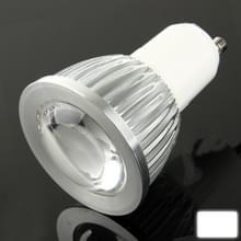 GU10 5W 400LM LED Spotlight gloeilamp  1 COB LED  wit licht  6000-6500K  AC 85-265V