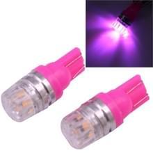 2 stk T10 1 5 60LM 1 LED Magenta COB LED rem licht voor voertuigen  DC12V(Magenta)