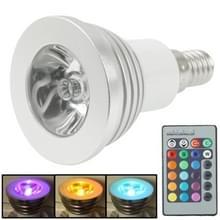 E14 3W RGB LED gloeilamp  lichtstroom Flash: 240-270lm  met afstandsbediening  AC 85-265V