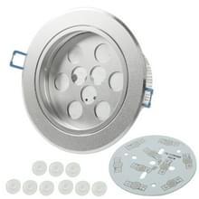 9W LED dagen lantaarns delen (Cover delen + Aluminium grondplaat Base + LED Lens + aluminium koellichaam + schroeven)