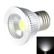 E27 5W 475LM-Ledlamp Spotlight  1 COB LED  wit licht  6000-6500K  AC 85-265V  verzilverde deksel