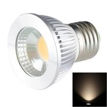 E27 5W 475LM Spotlight Ledlamp  1 COB LED  Warm wit licht  3000-3500K  AC 85-265V  verzilverde deksel