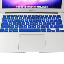 MacBook Air 11.6 inch (US versie) kleurrijk zacht Siliconen ENKAY Toetsenbord Protector Skin (blauw)