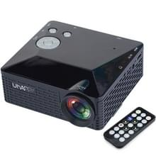 Uhappy U18 60LM Home Theater 320 * 240 miniprojector met afstandsbediening  ondersteunt HDMI + USB + SD + AV + VGA(Black)