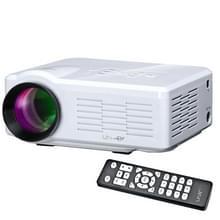Uhappy U35 800LM thuisbioscoop 640 * 480 miniprojector met afstandsbediening  ondersteunt HDMI + SD + USB + TV + AV + VGA(White)