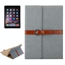 Bussiness stijl horizontaal flip lederen draagtas met 2-vouwen houder & gesp voor iPad mini 3 / 2 / 1 (donker grijs)