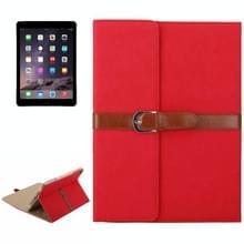 Bussiness stijl horizontaal flip lederen draagtas met 2-vouwen houder & gesp voor iPad mini 3 / 2 / 1(Red)