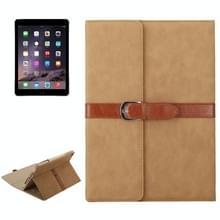Bussiness stijl horizontaal flip lederen draagtas met 2-vouwen houder & gesp voor iPad mini 3 / 2 / 1 (lichtbruin)
