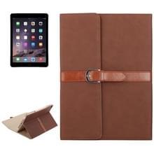 Bussiness stijl horizontaal flip lederen draagtas met 2-vouwen houder & gesp voor iPad mini 3 / 2 / 1(Brown)