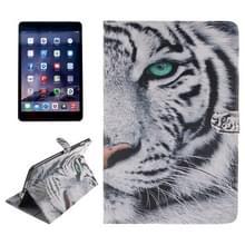 Tijger patroon lederen draagtas met houder & Card Slots & portemonnee voor iPad mini 3 / mini 2 / iPad mini