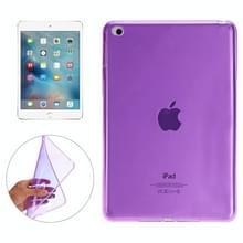 Glad oppervlak TPU Case voor iPad Mini 4 (paars)