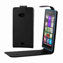 Microsoft Lumia 540 vertikaal PU leren Flip Hoesje met magnetische sluiting (zwart)