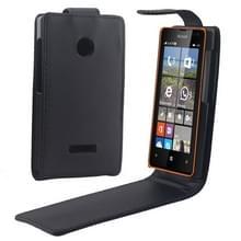 Microsoft Lumia 435 vertikaal PU leren Flip Hoesje met handige magnetische sluiting