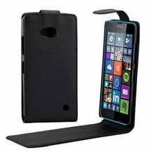 Microsoft Lumia 640 vertikaal PU leren Flip Hoesje met magnetische sluiting