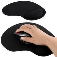 Ultra Slim rubberen onderkant & kleding spons pols Supporter muis Pad(zwart)