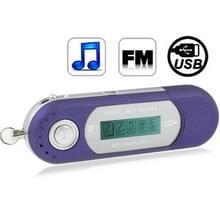 2GB MP3-speler met LCD-scherm  de Radio van de FM van de ondersteuning  werk met AAA-batterij  gebruiken als USB Flash Disk(Blue)