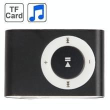 TF (Micro SD) kaartsleuf MP3-speler met metalen Clip(Black)